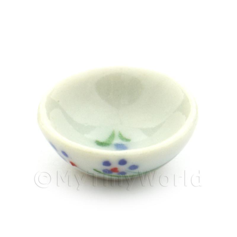 4x casa de muñecas en miniatura de diseño de uva Tazones de cerámica 15 mm