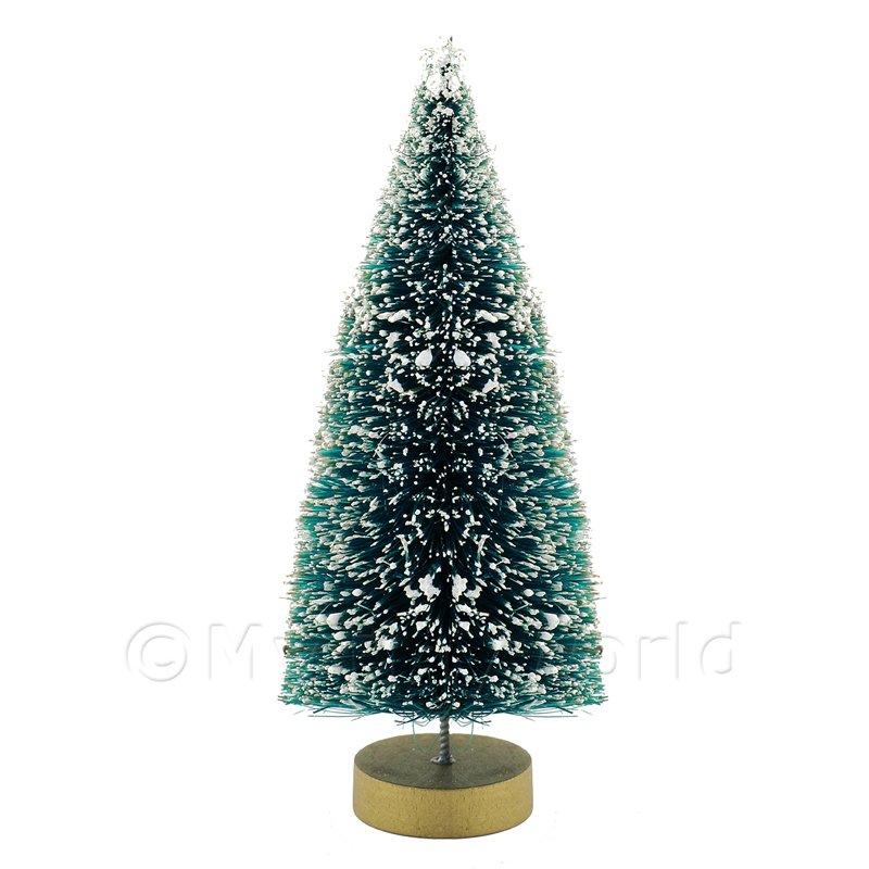 Christmas Tree Manufacturers Uk : Dolls house miniature medium snow effect christmas tree