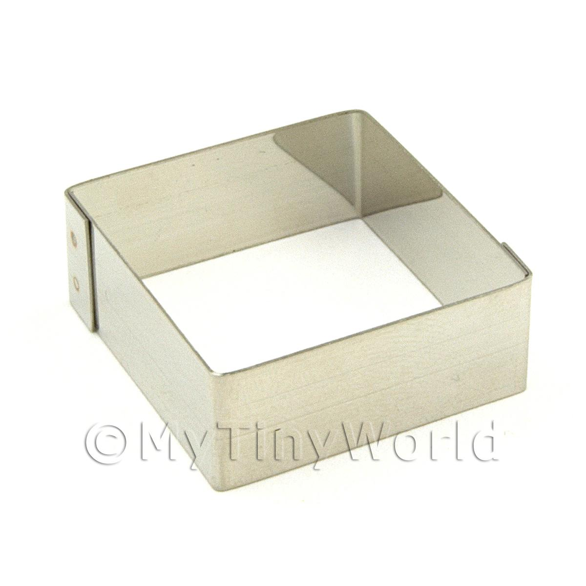 Metal Square Shape Sugarcraft / Clay Cutter (30mm)