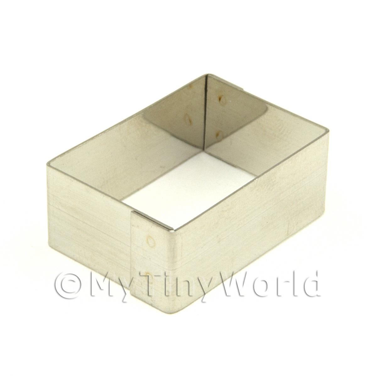 Metal Rectangular Shape Sugarcraft / Clay Cutter (30mm)