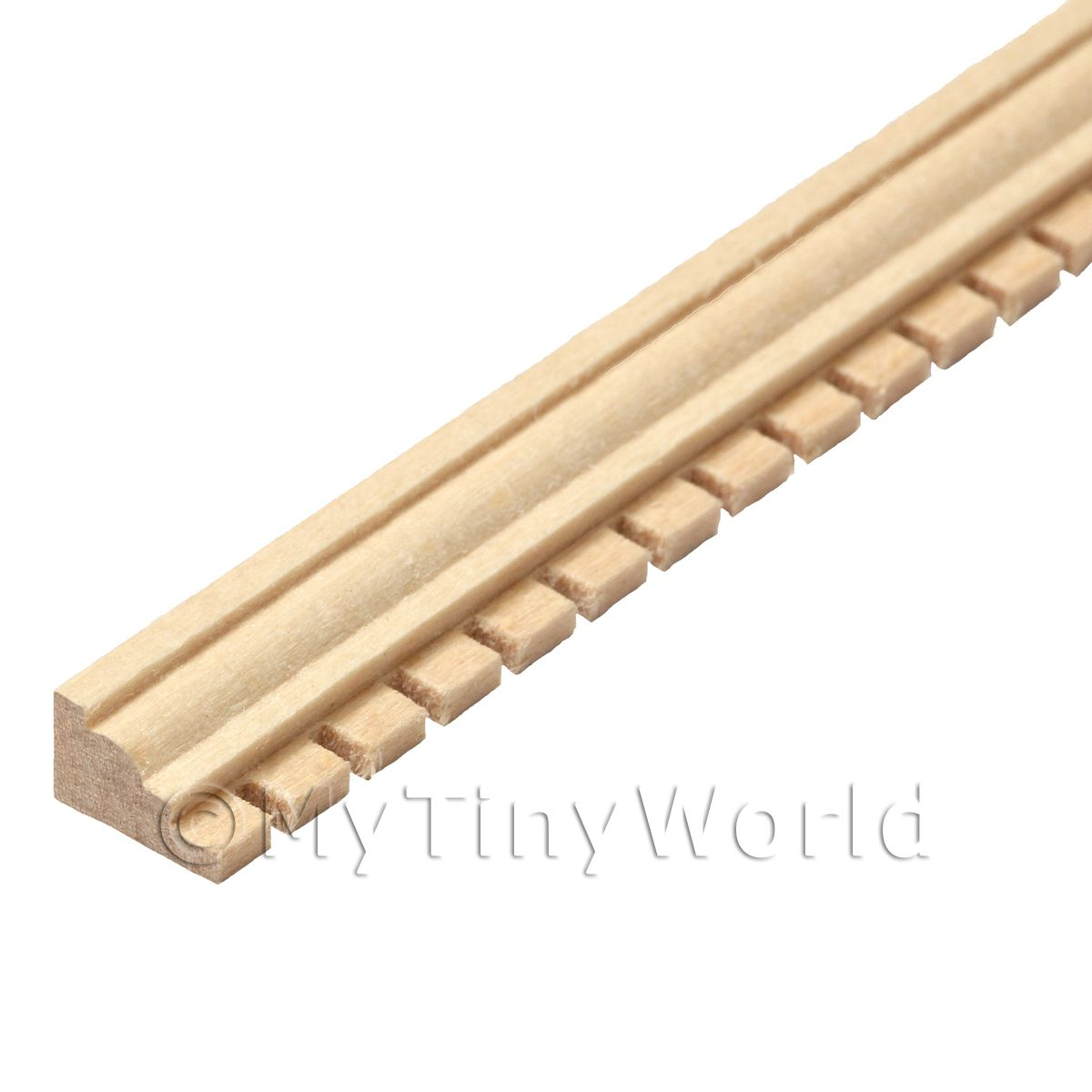 Dolls House Miniature Wood Decorative Moulding (Style 3)