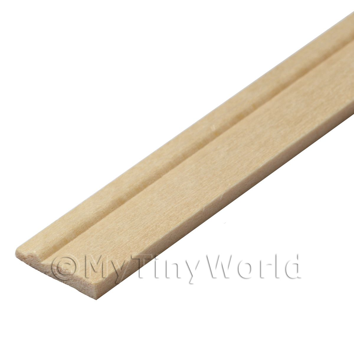 Dolls House Miniature 15mm Wood Skirting Board (Style 2)