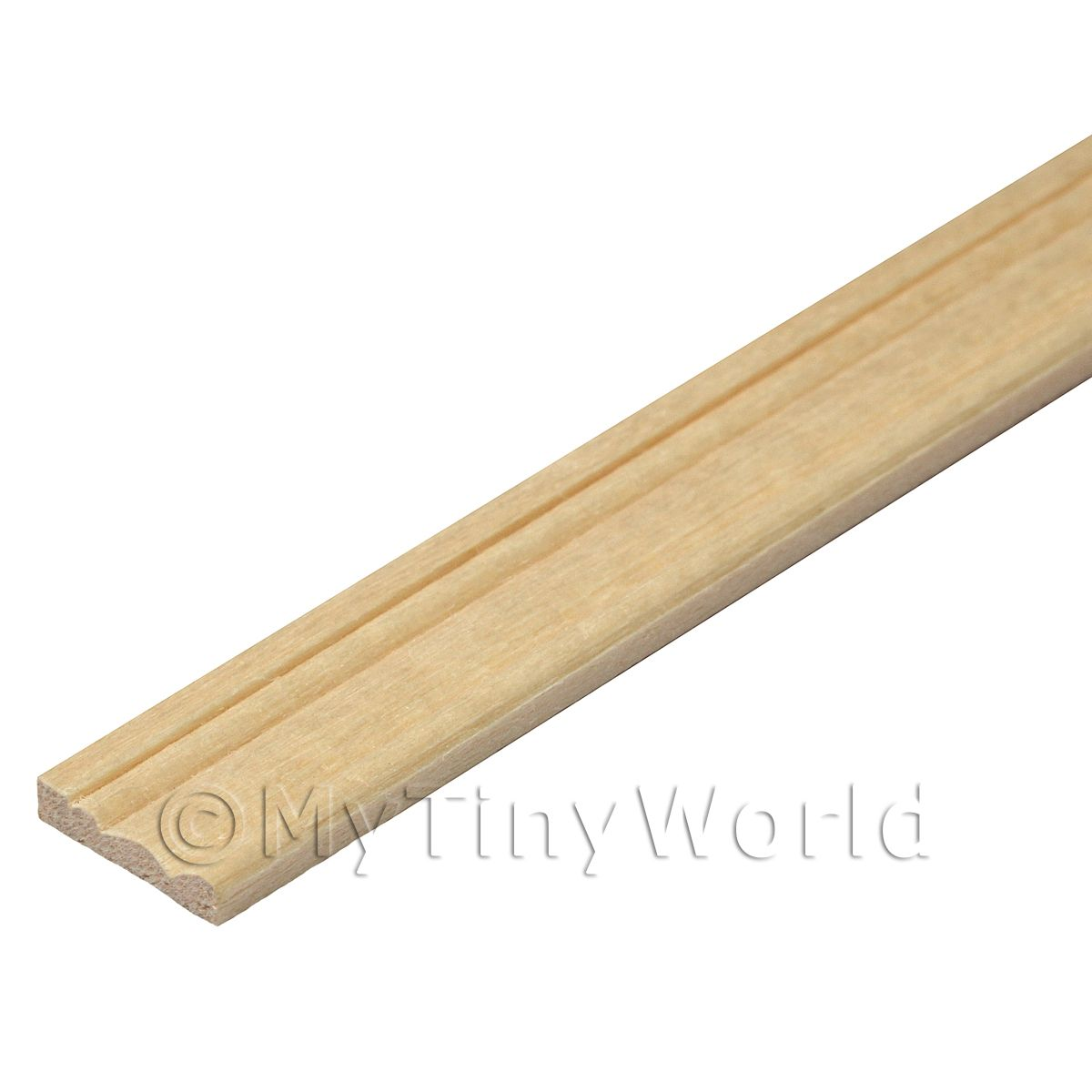 Dolls House Miniature 11mm Wood Skirting Board (Style 3)