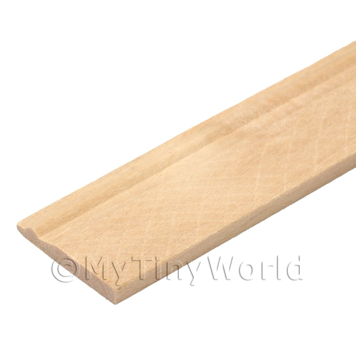 Dolls House Miniature 20mm Wood Skirting Board (Style 4)