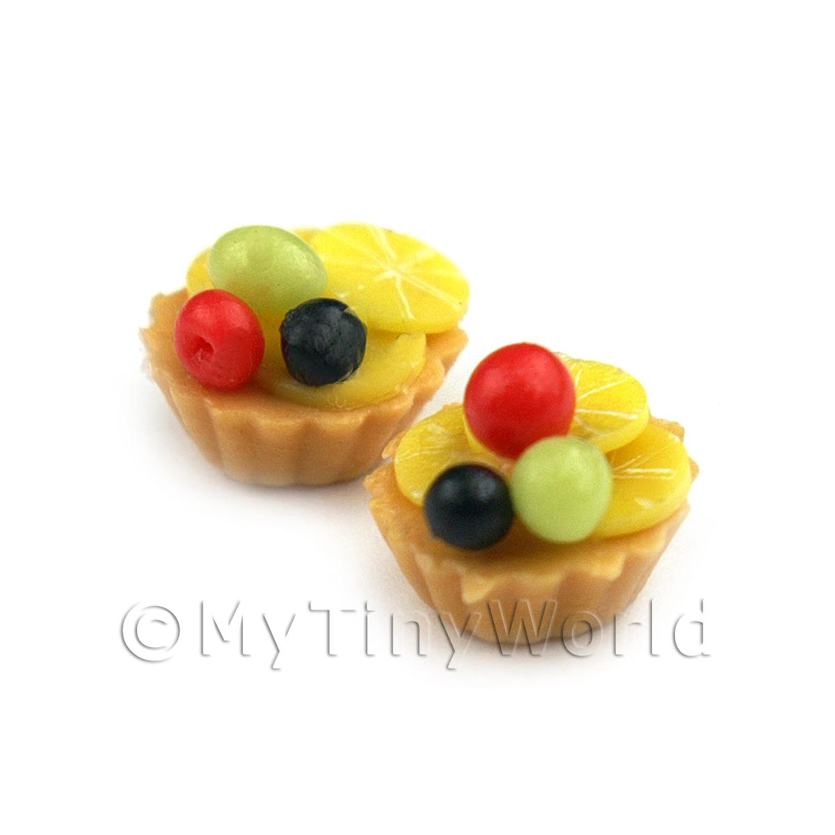 Dolls House Miniature Loose Handmade Cherry and Lemon Suprise Tart