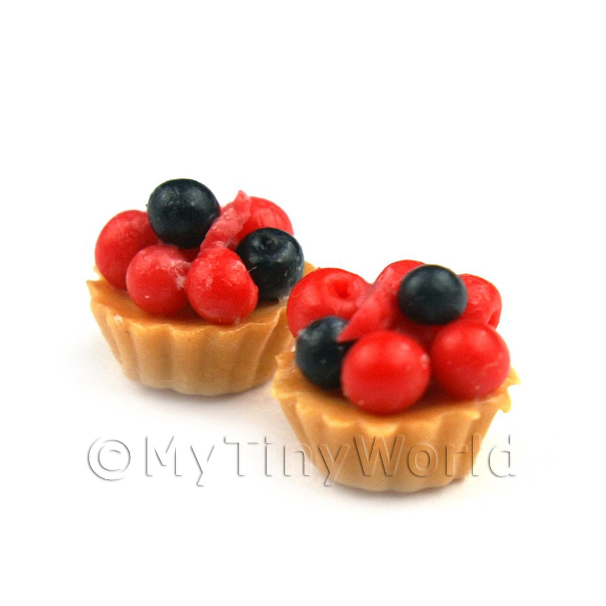 Dolls House Miniature Loose Handmade Very Berry Tart
