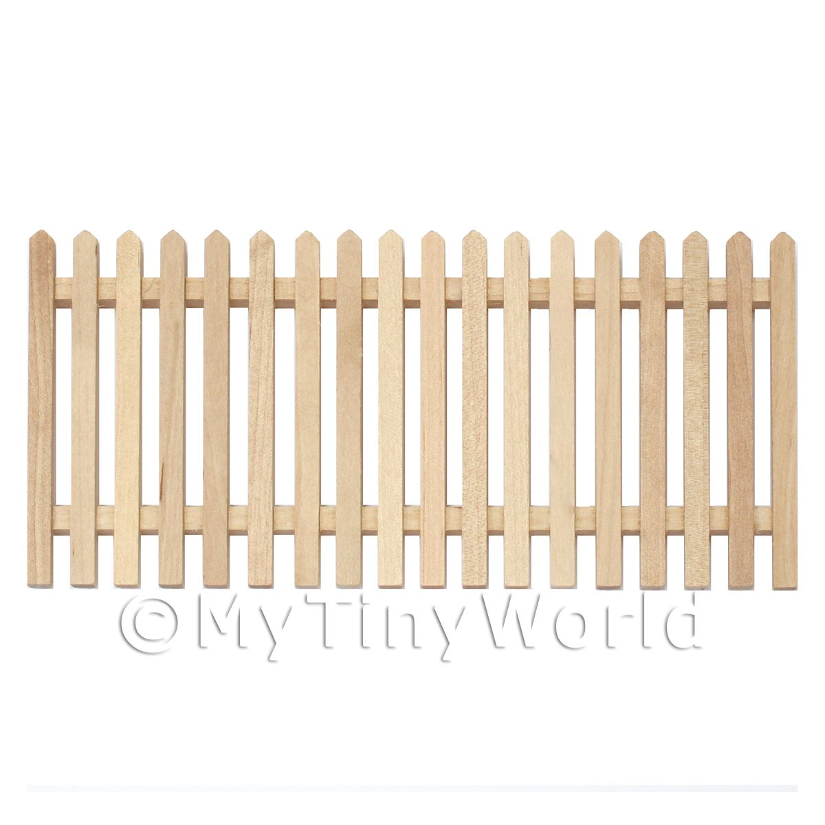Dolls House Miniature White Wood Picket Fence