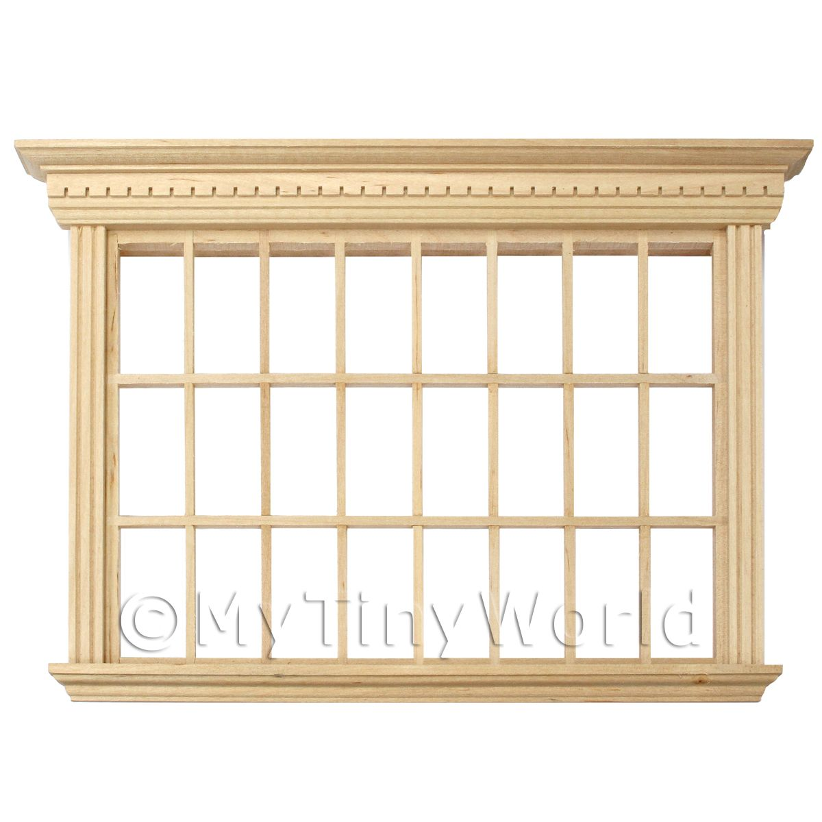 Dolls House Miniature Wood 24 Pane Georgian Window