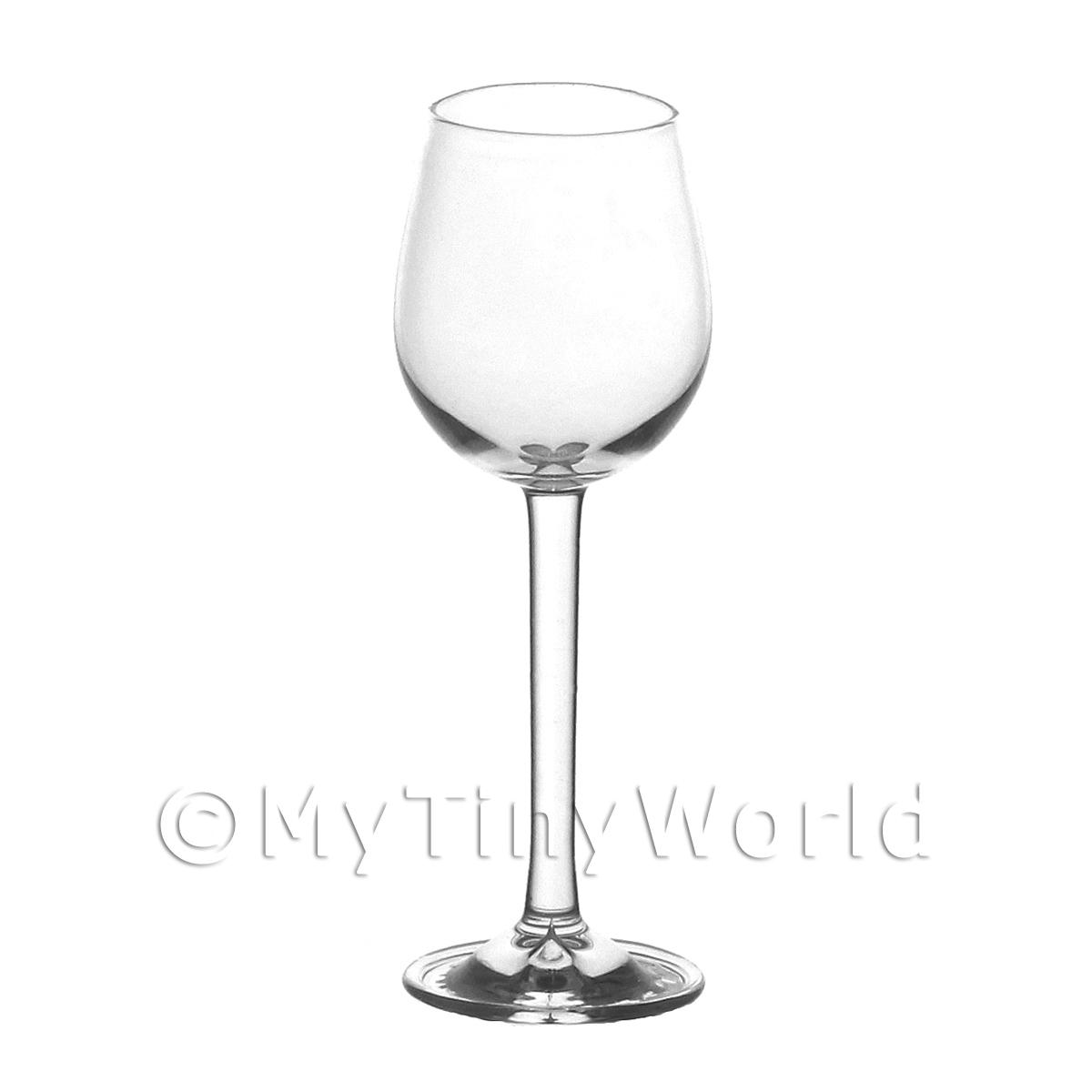 Dolls House Miniature Handmade Large Classic Water / Wine Glass