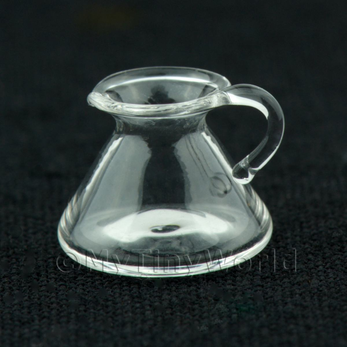 Dolls House Miniature Glass Conical Flask Jug