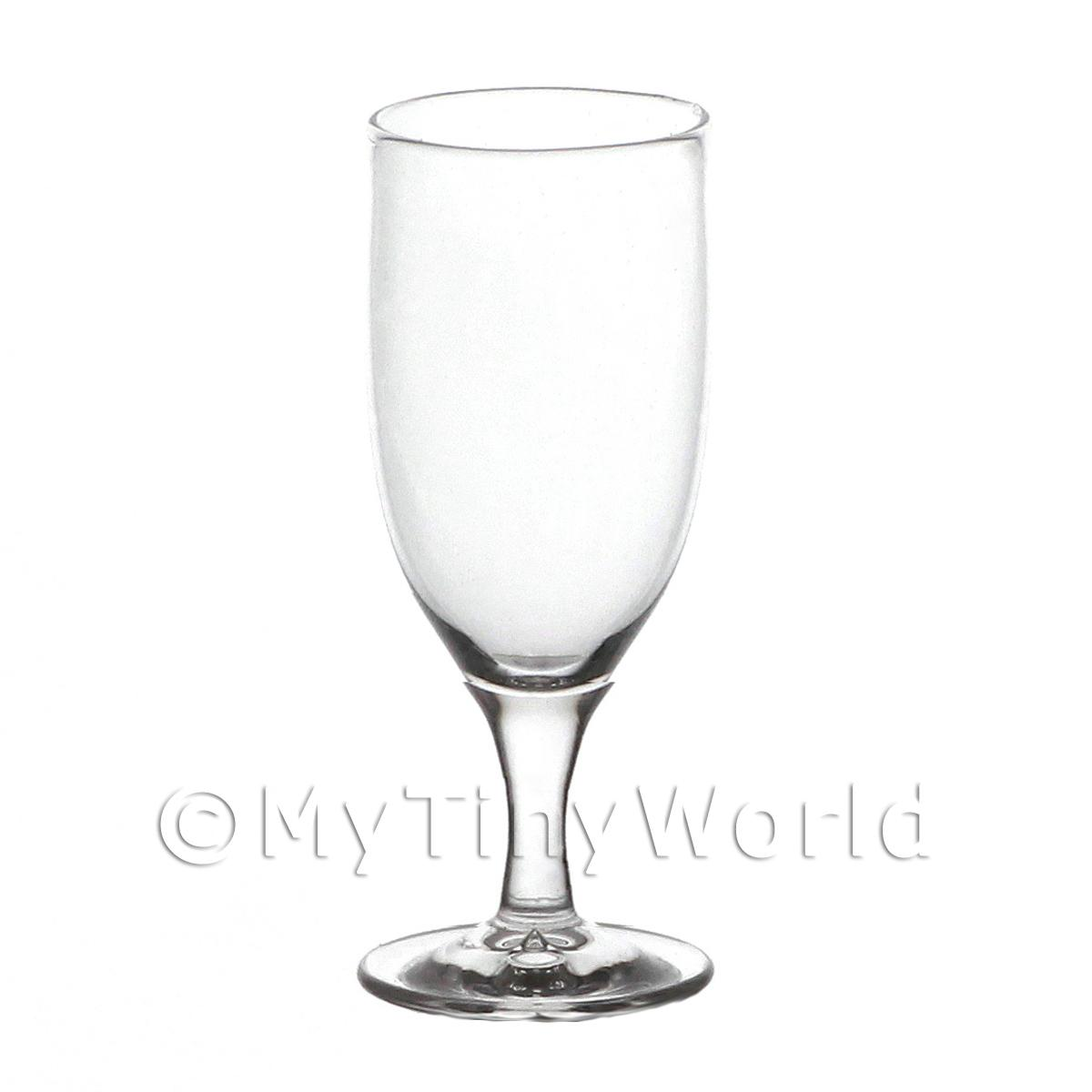 Elegant Dolls House Miniature Handmade Clear Wine Glass