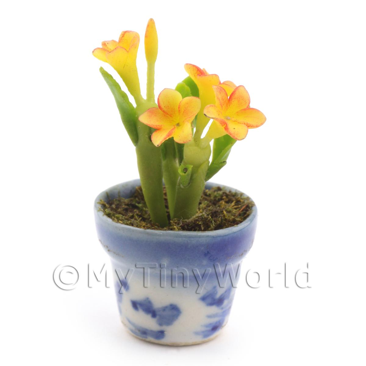 Dolls House Miniature Yellow Plumeria