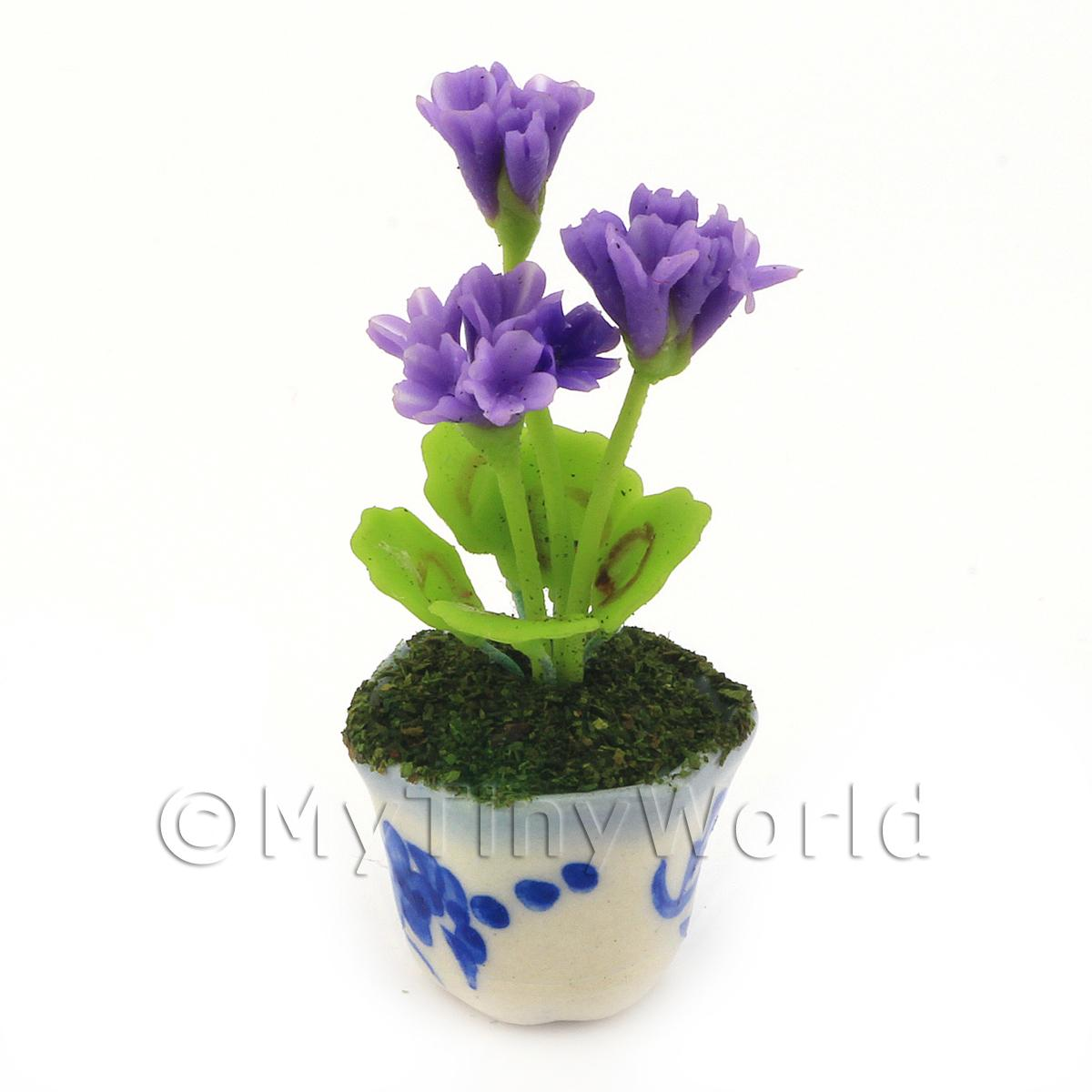 Dolls House Miniature Purple Geranium