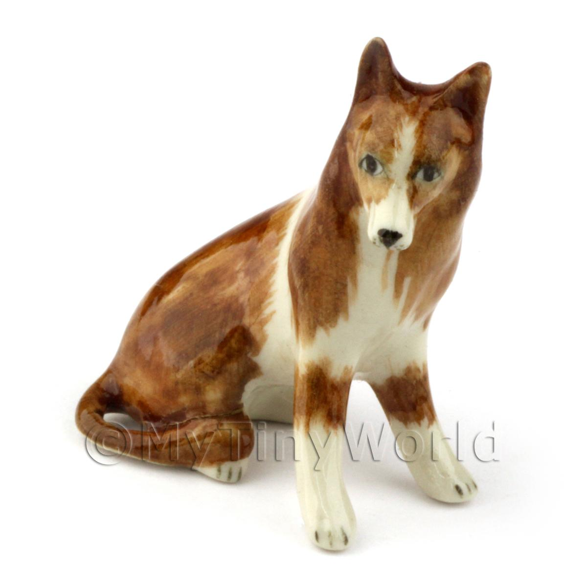 Dolls House Miniature Adult Collie Dog