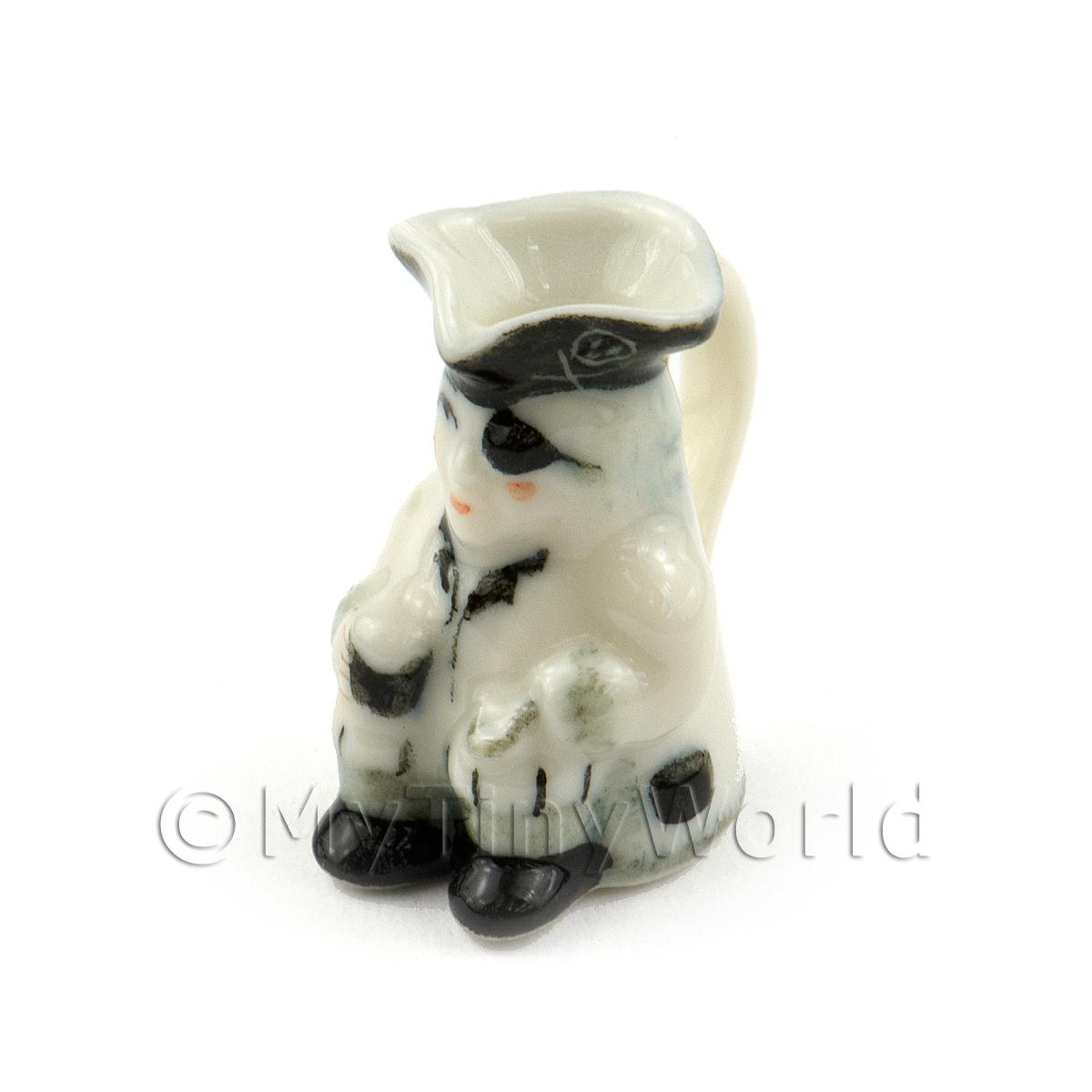 Dolls House Miniature Handmade White Ceramic Toby Jug