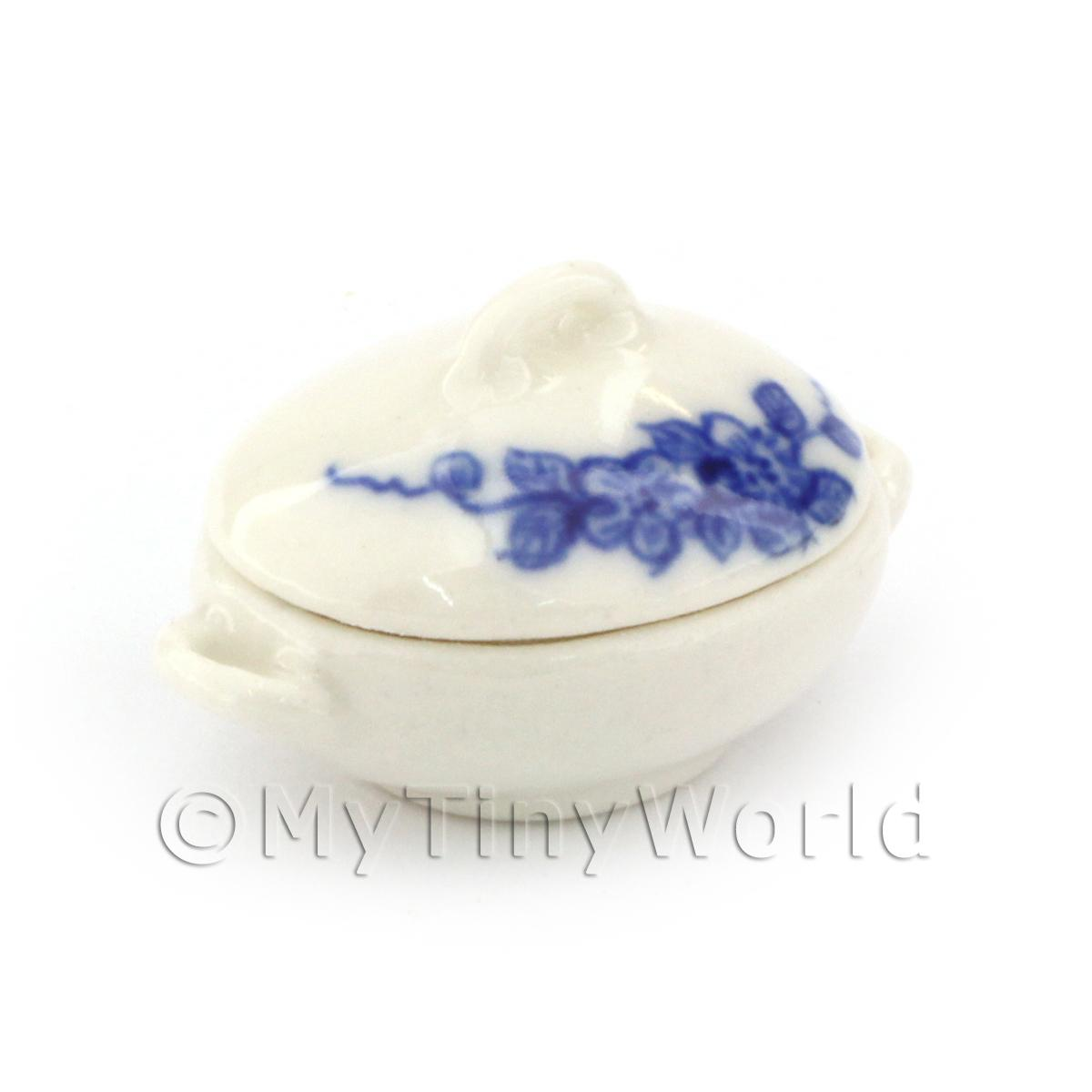 Dolls House Miniature Hand Painted Vegetable Serving Dish