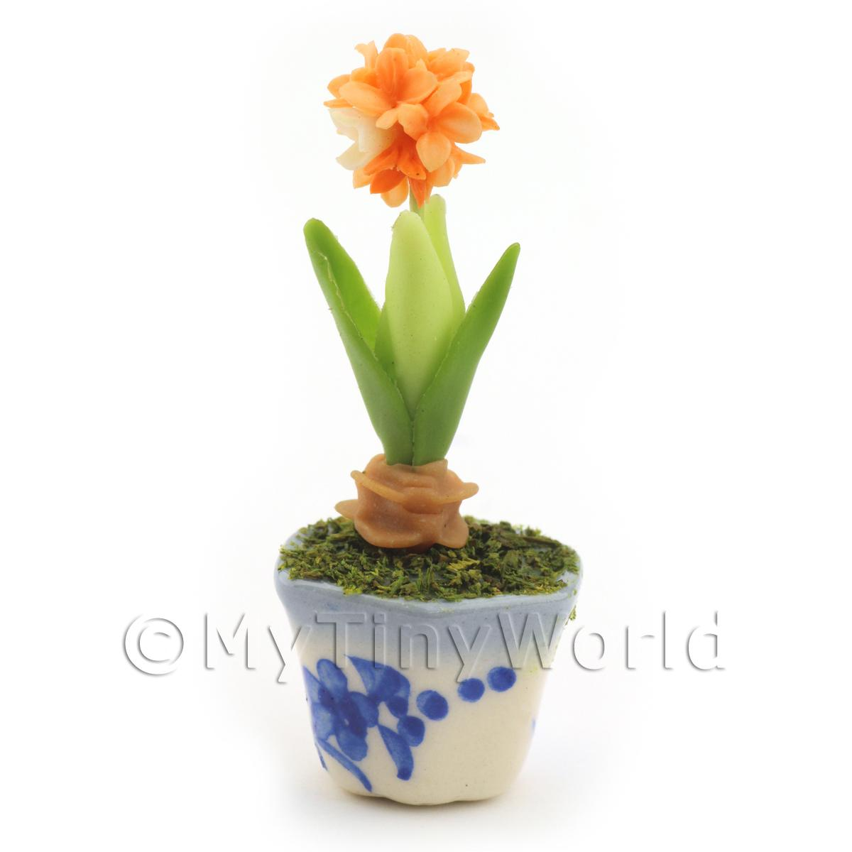 Dolls House Miniature Orange Hydrangea