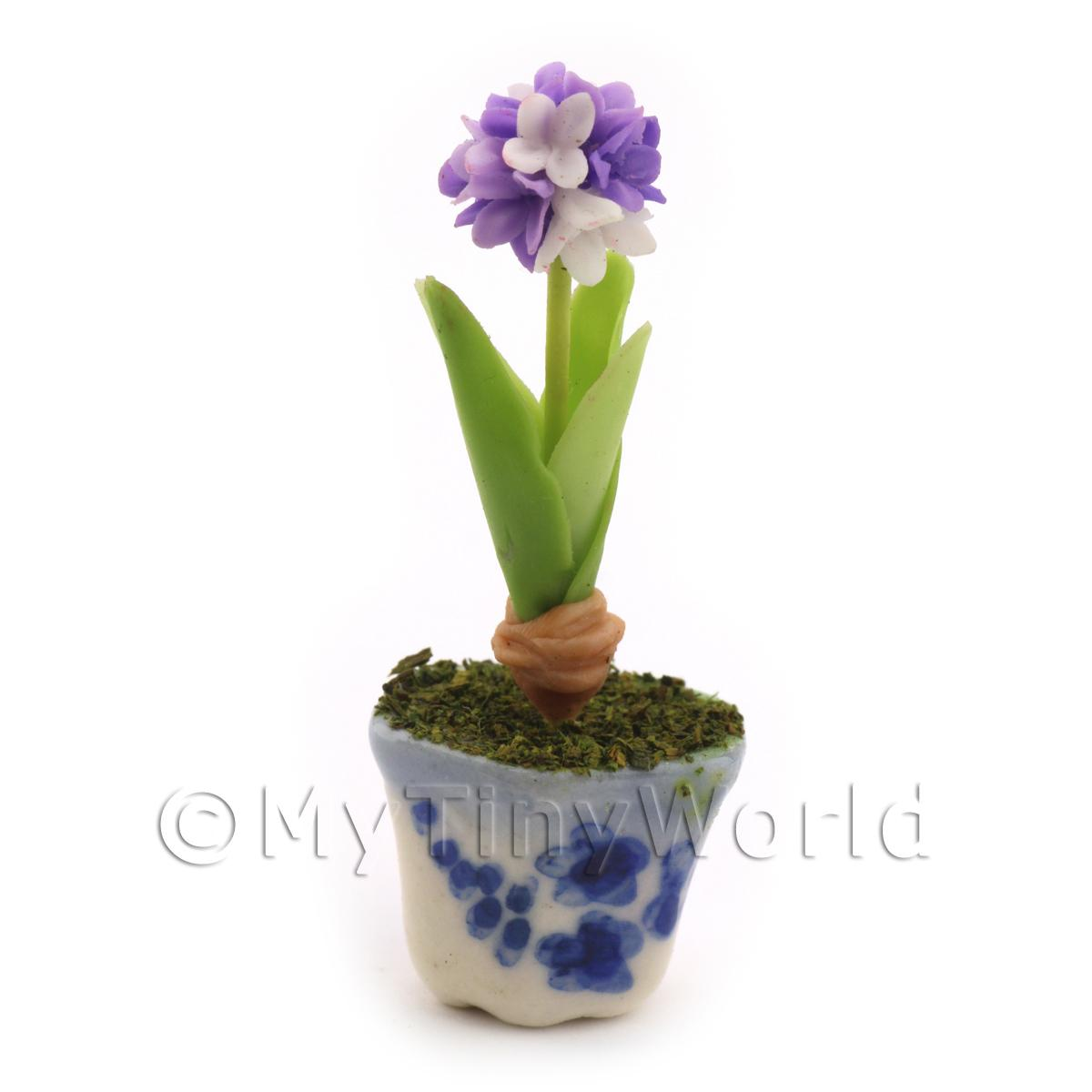 Dolls House Miniature Violet Hydrangea