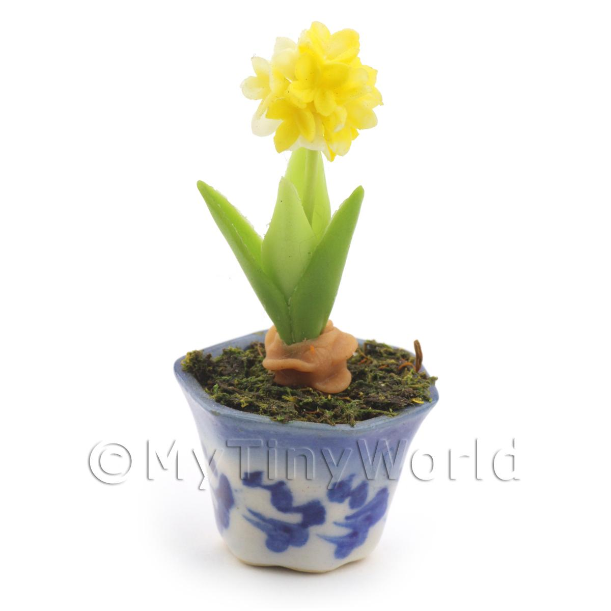 Dolls House Miniature Yellow Hydrangea