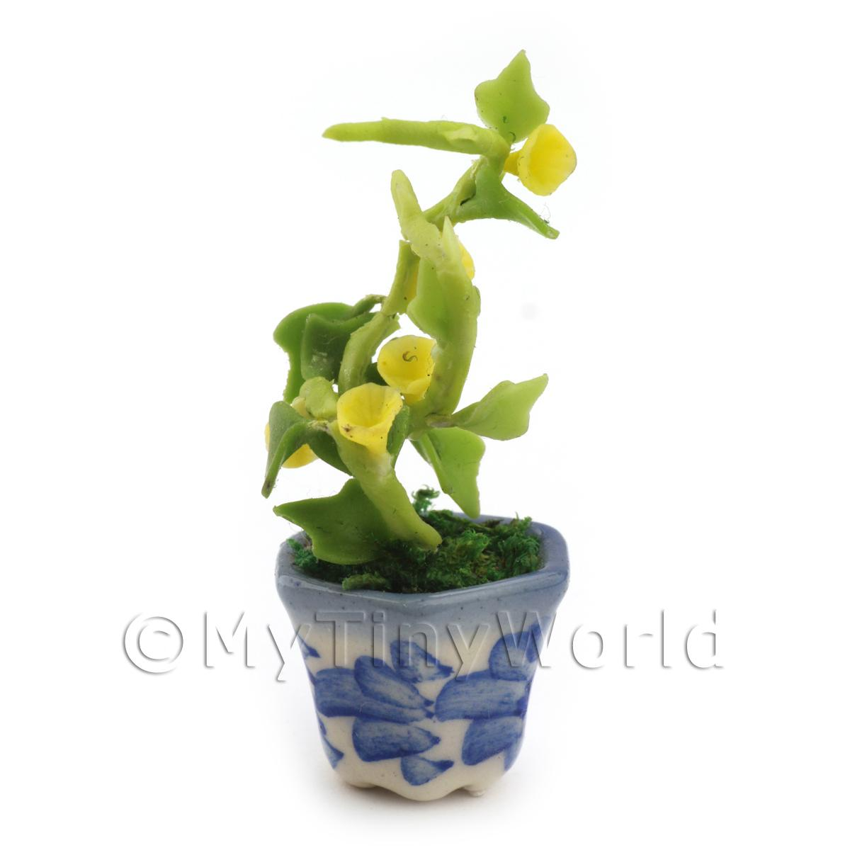 Dolls House Miniature Yellow Hollyhock Plant