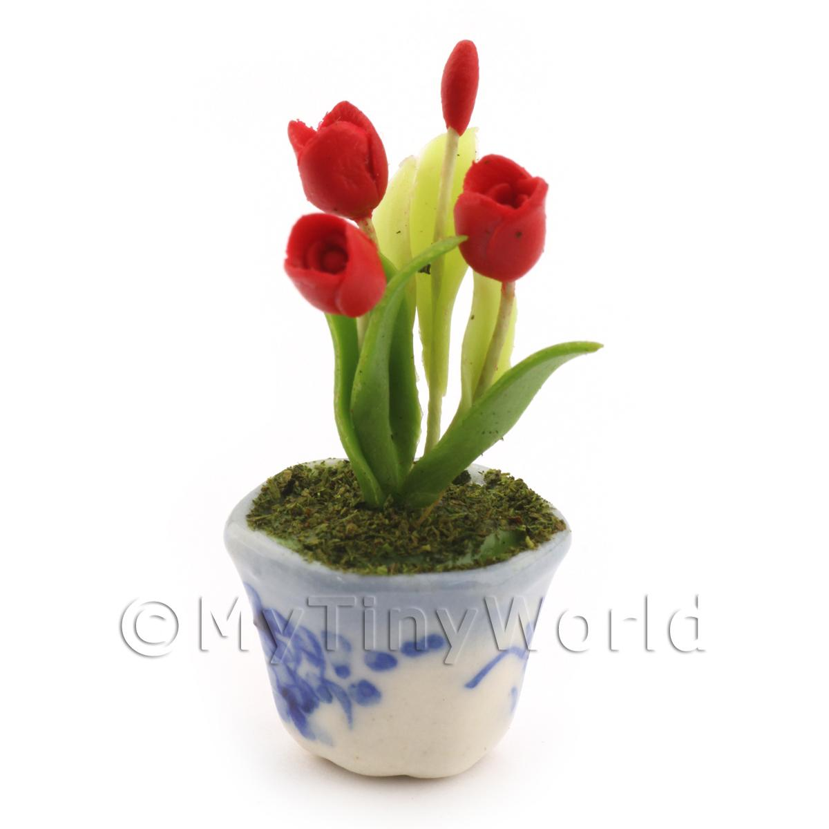 Dolls House Miniature Red Tulip