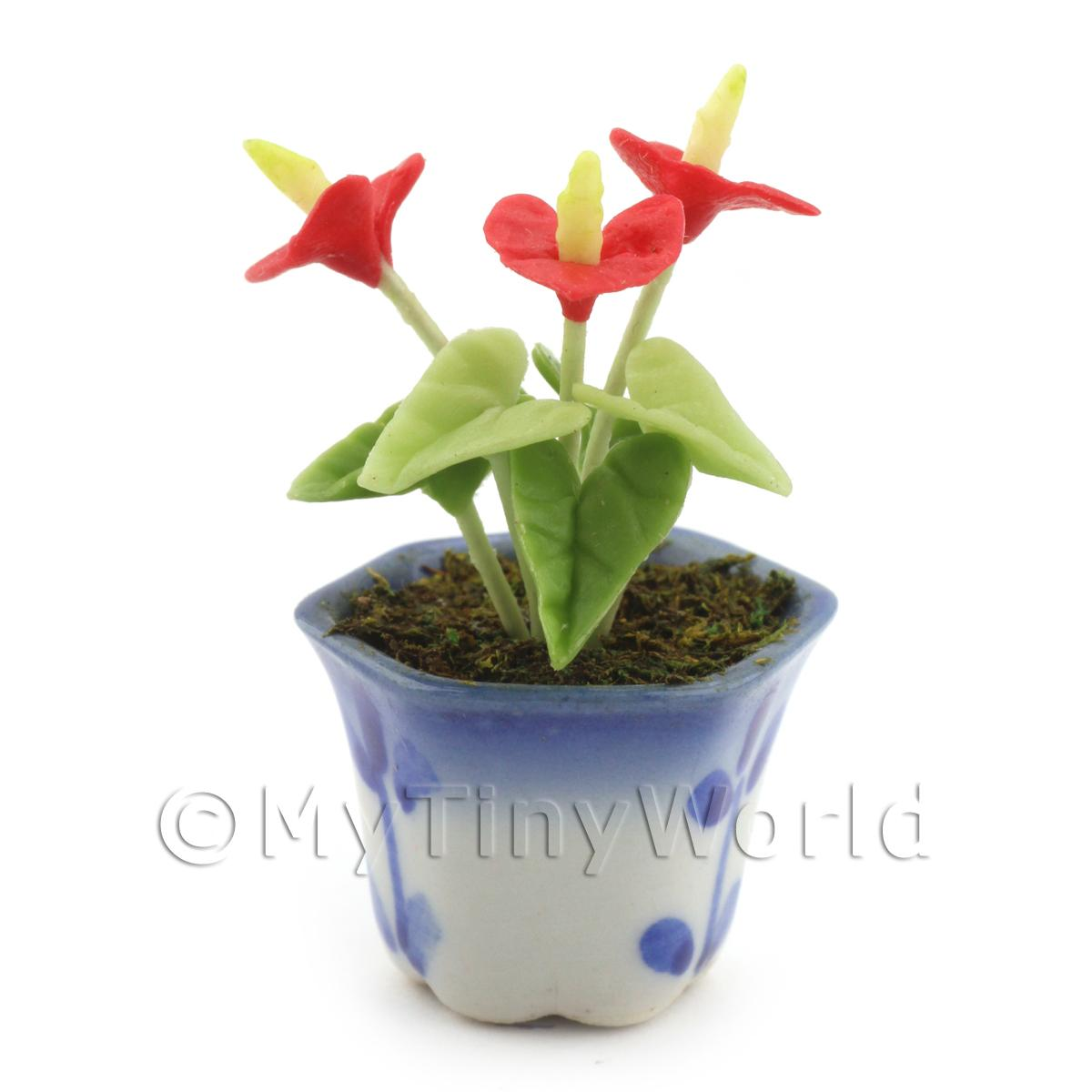 Dolls House Miniature Red Cala Lilly