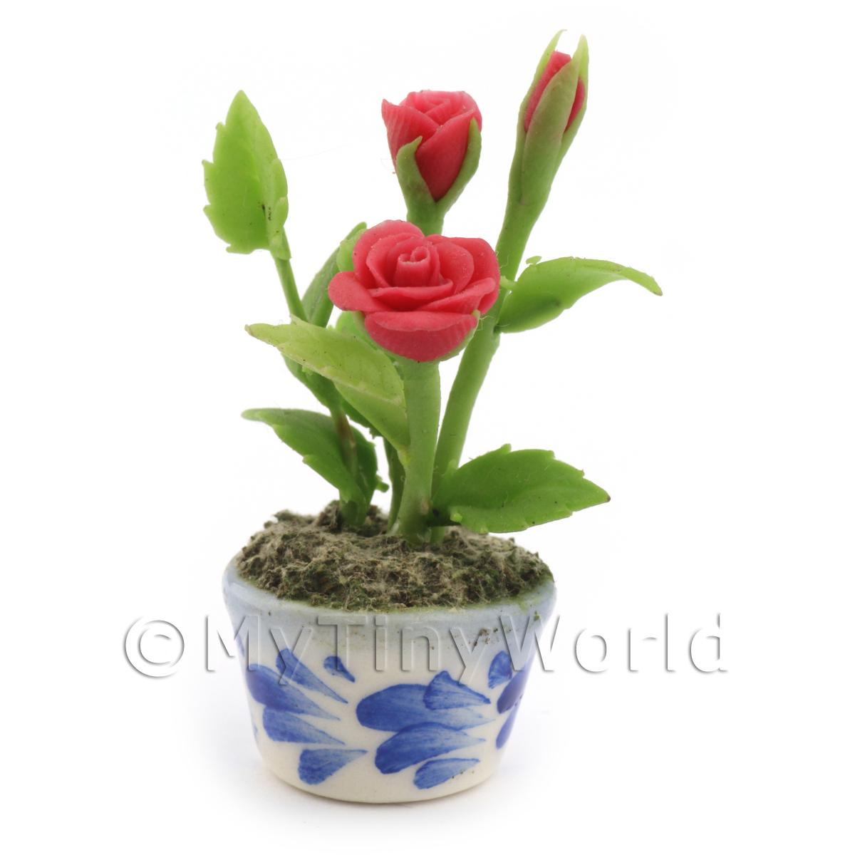 Dolls House Miniature Red Roses
