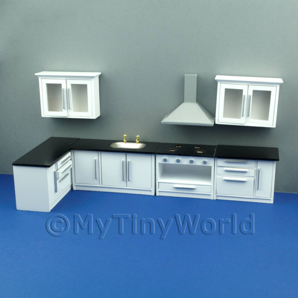 Modern White 7 Piece Complete Kitchen Set