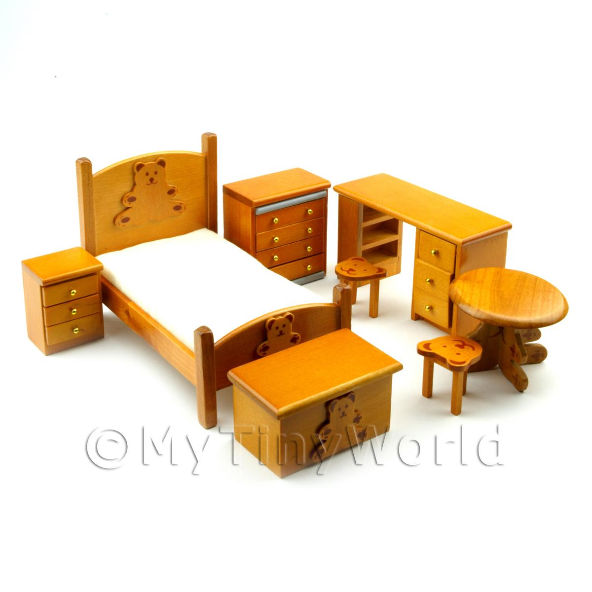 Dolls House Miniature Kids Bedroom Set