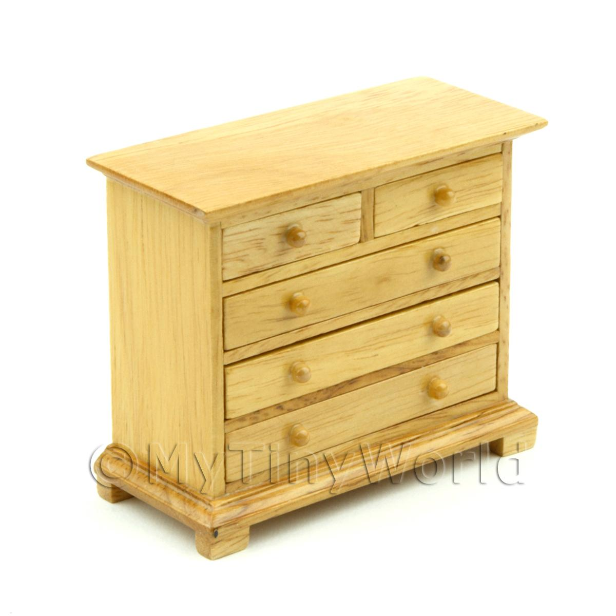 Dolls House Miniature Solid Wood Chest of Drawers