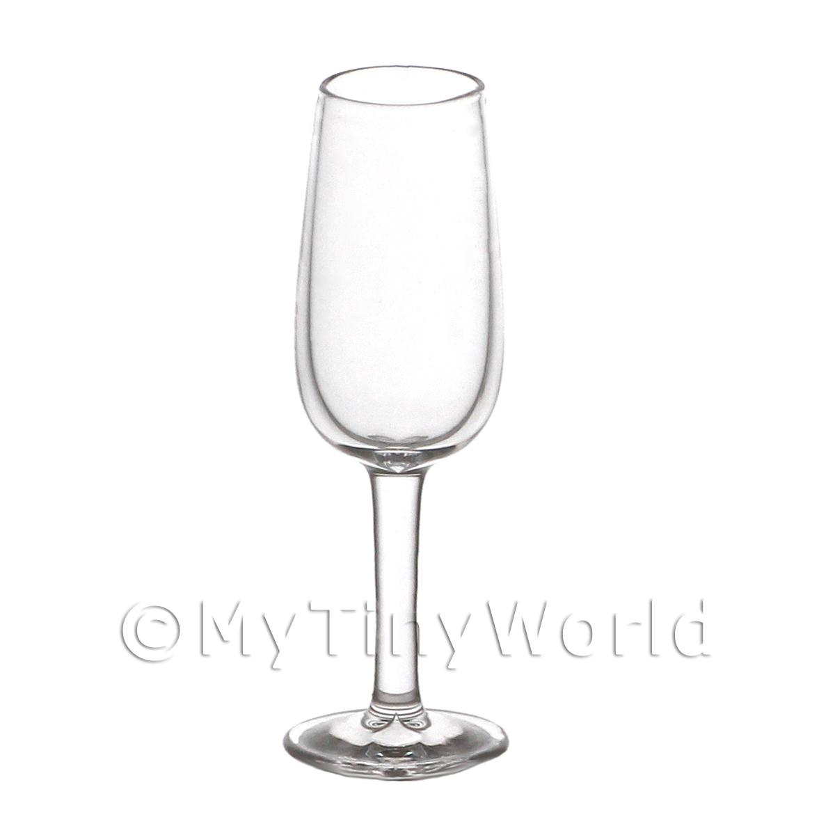 Dolls House Miniature Handmade Narrow Necked Clear Wine Glass