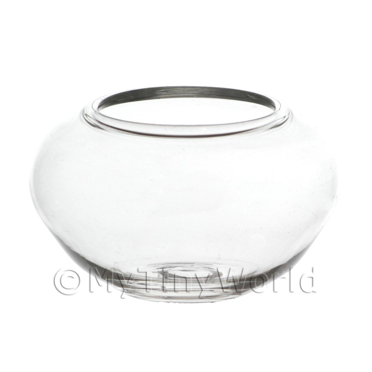 Dolls House Miniature Handmade Large Glass Fish Bowl