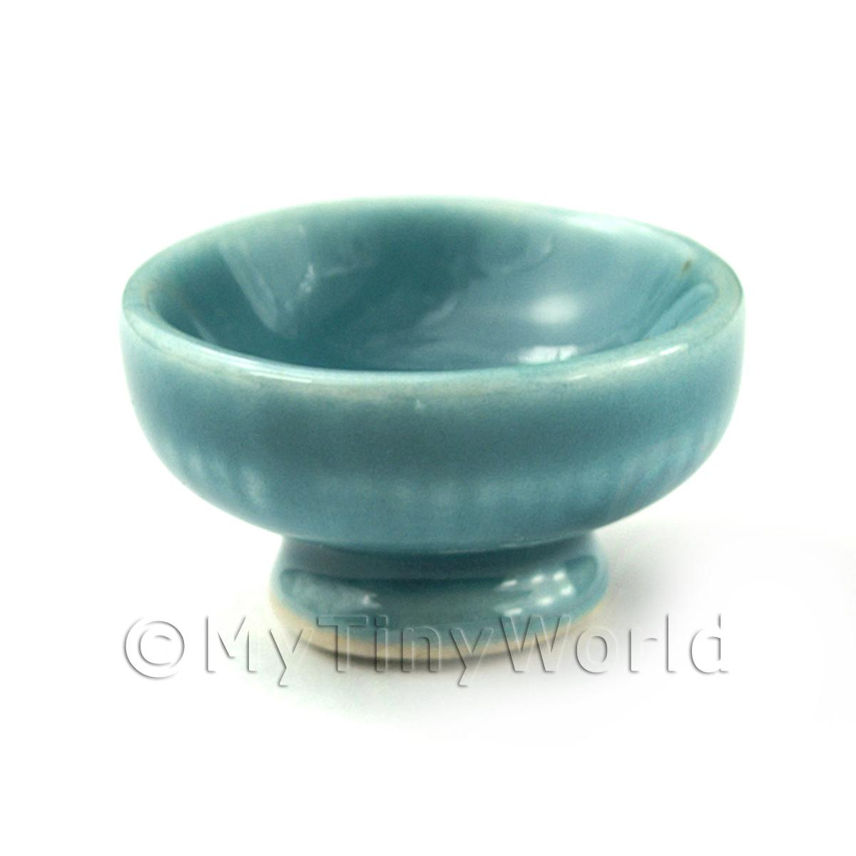 Dolls House Aquamarine 23mm Ceramic Fruit Bowl