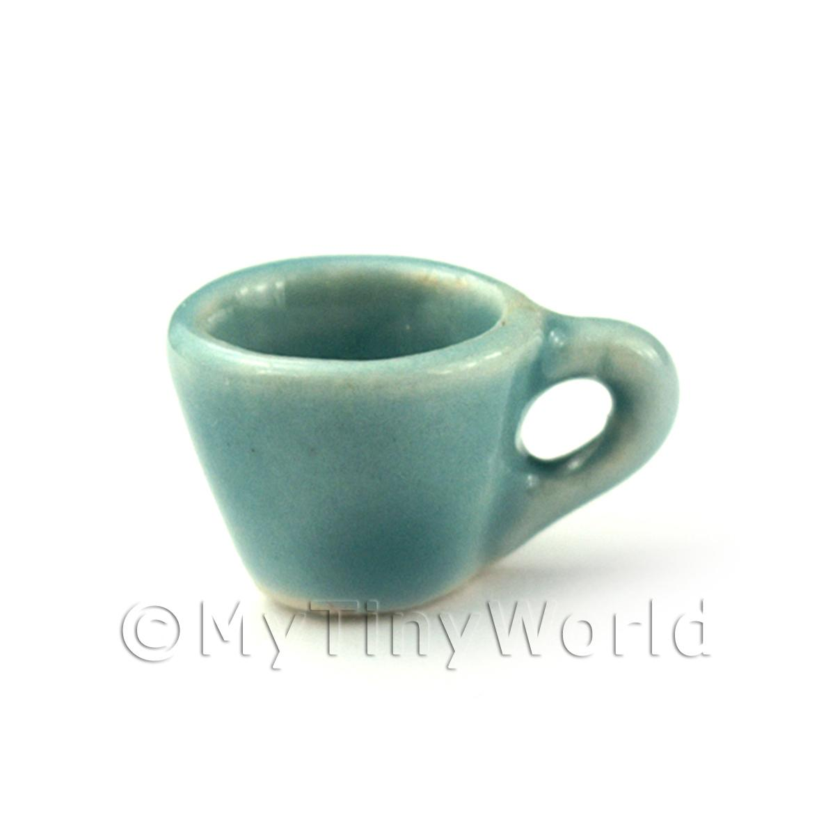 Dolls House Miniature Aquamarine Ceramic Tea Cup