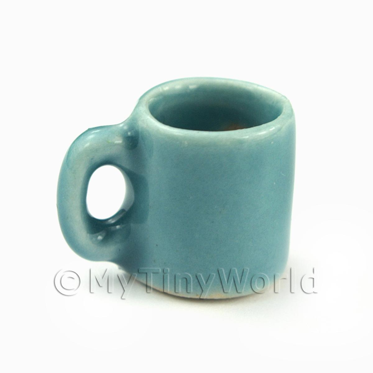 Miniature 11mm Aquamarine Ceramic Coffee Mug