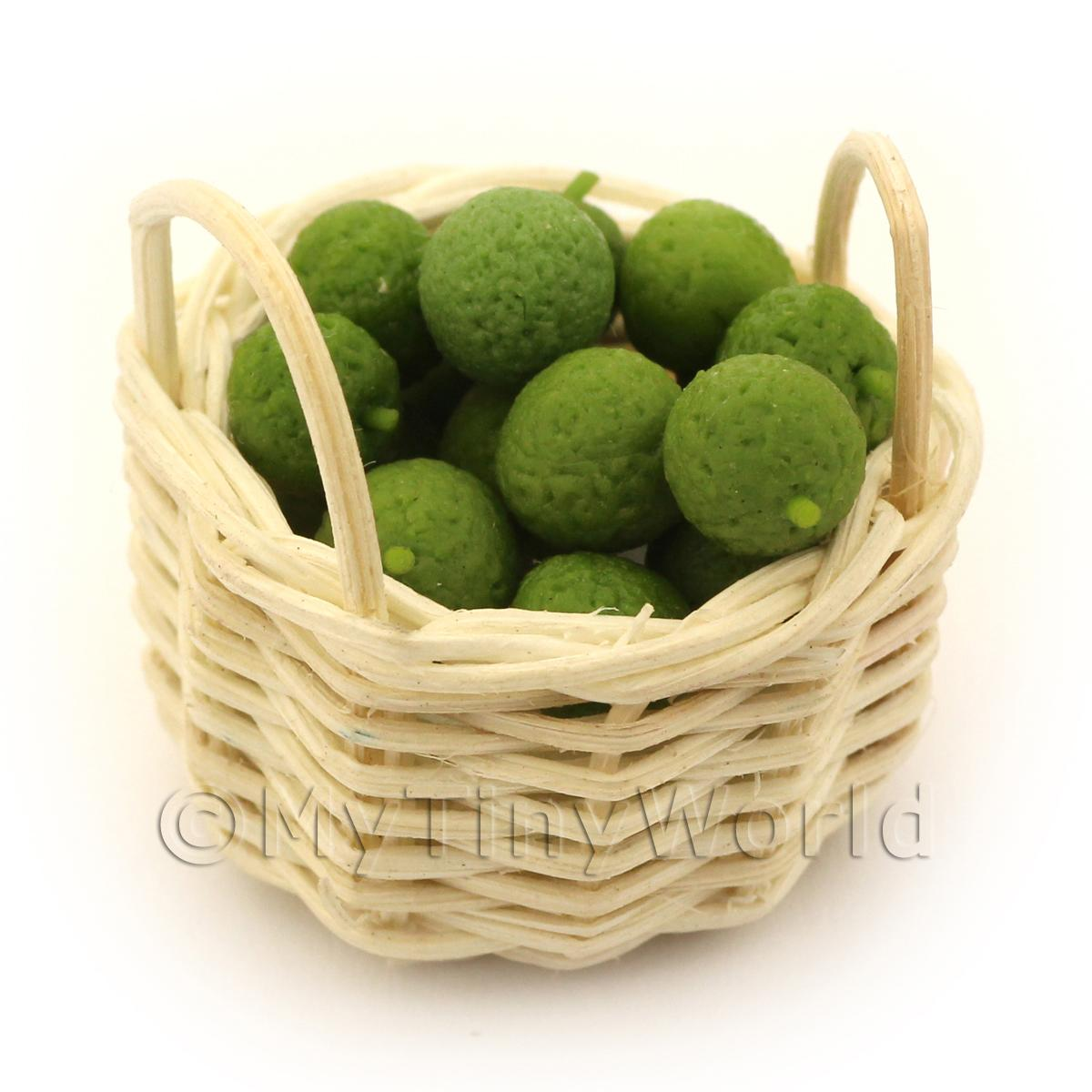 Dolls House Miniature Basket of Hand Made Limes