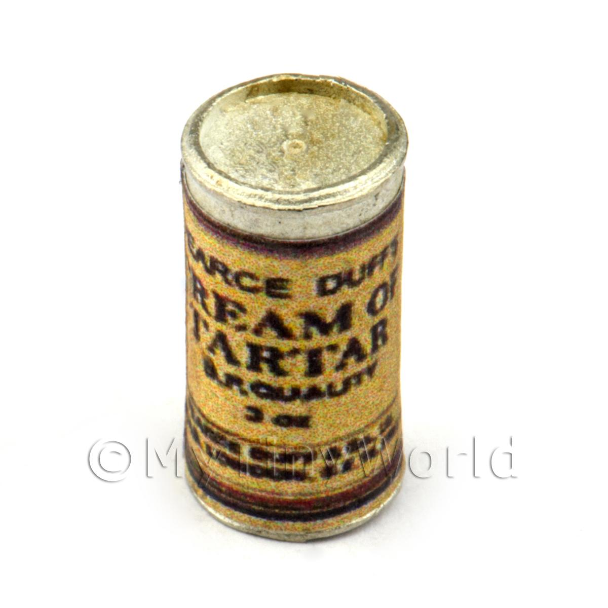Dolls House Miniature Can Of Cream Of Tartar