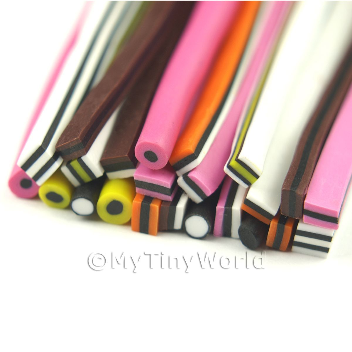 24 All Sorts Canes - Nail Art Bulk Pack