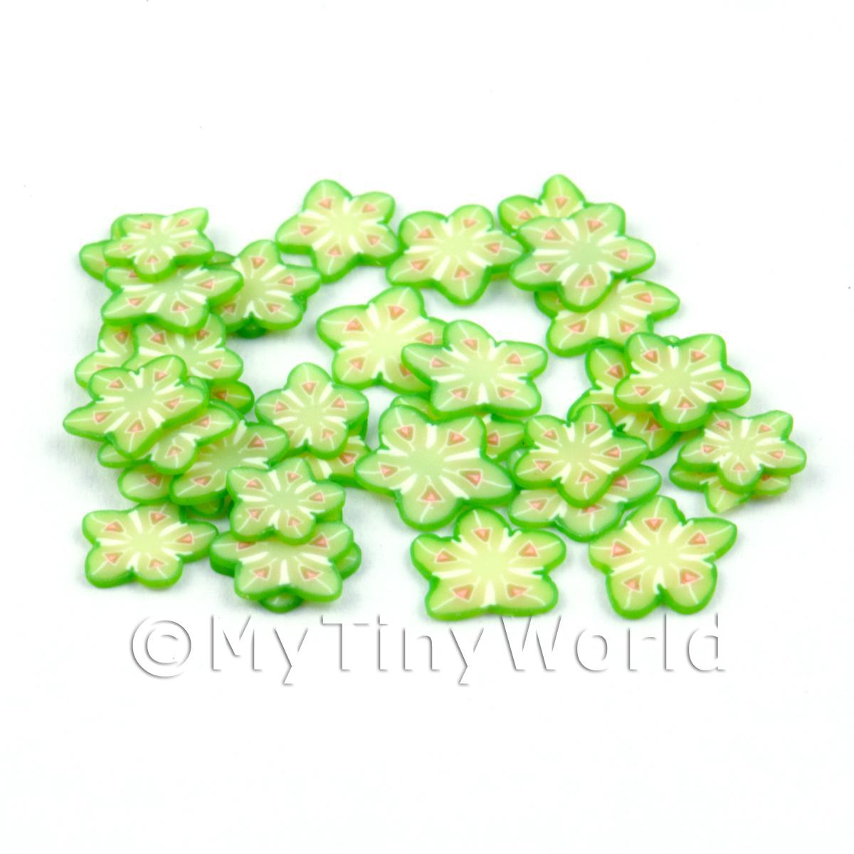 50 Star Fruit Nail Art Cane Slices (CNS01)