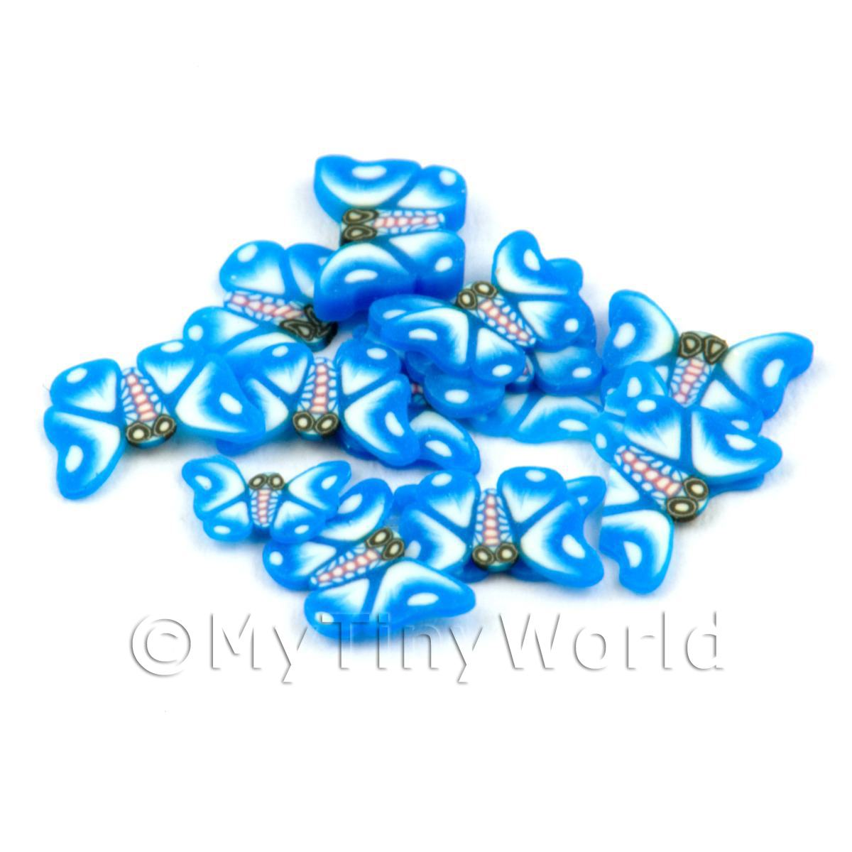 50 Blue Butterfly Cane Slices (CNS04)