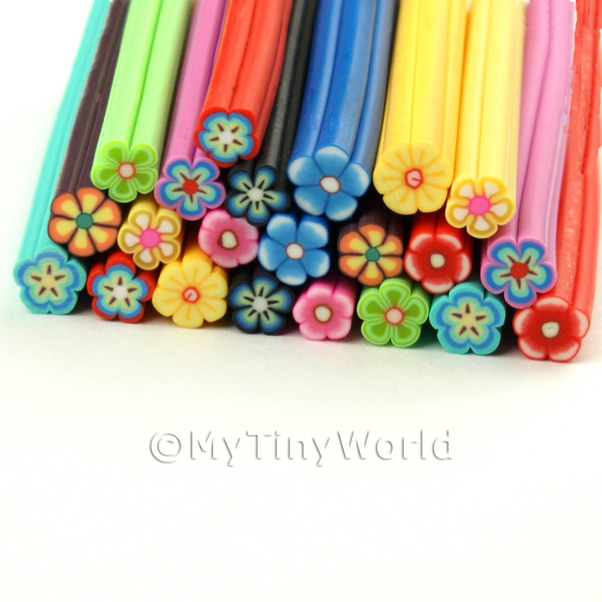 22 Mixed Flower Canes - Nail Art