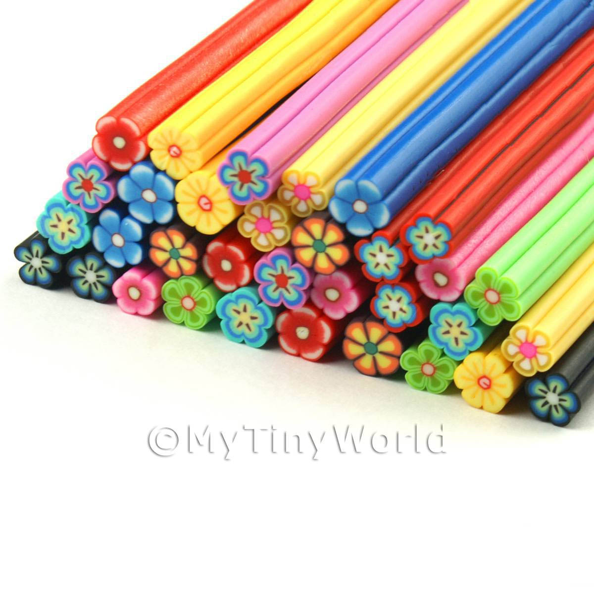 33 Mixed Flower Canes - Nail Art