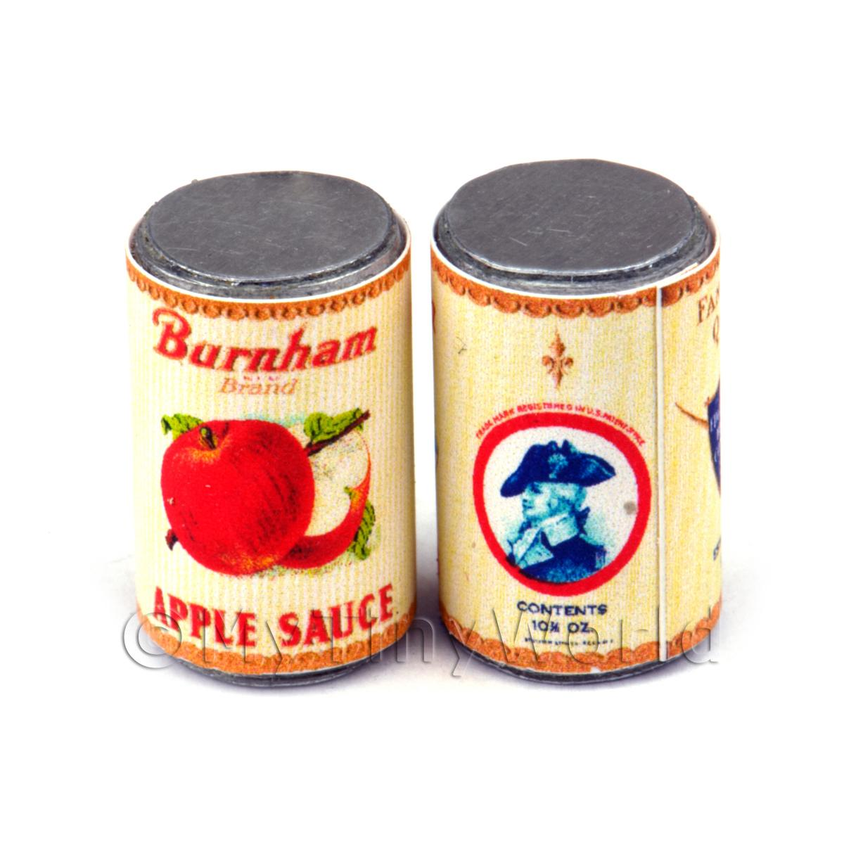 Dolls House Miniature Burnam Apple Sauce Can (1930s)