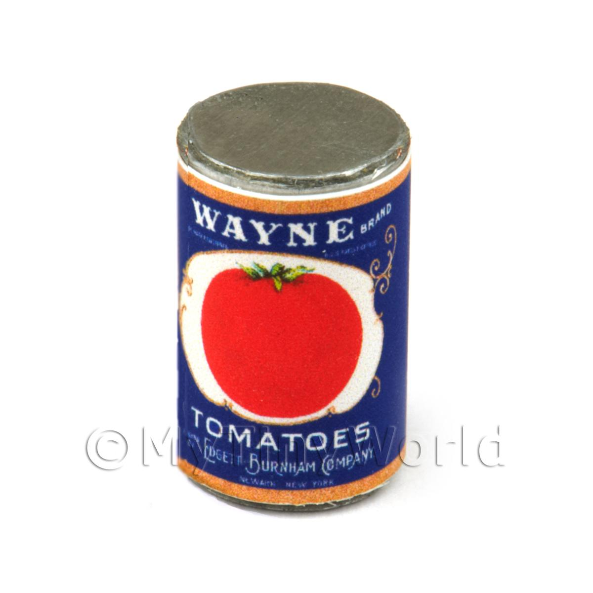 Dolls House Miniature Wayne Tomatoes Can (1930s)
