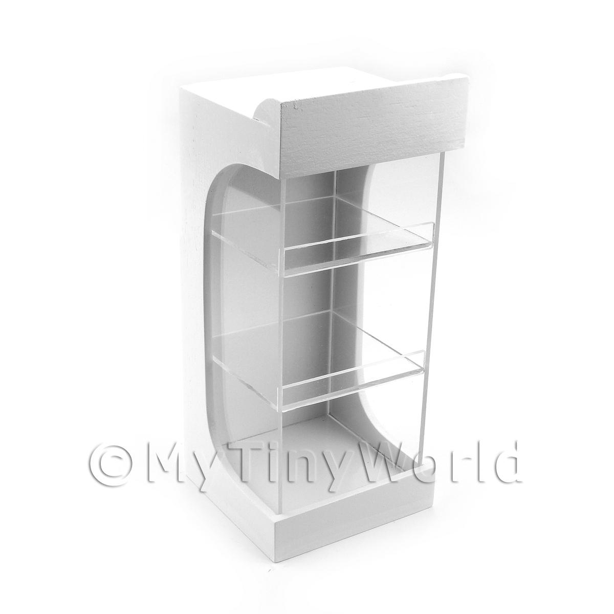 Miniature Wood And Perspex 2 Shelf Shop Merchandising Display