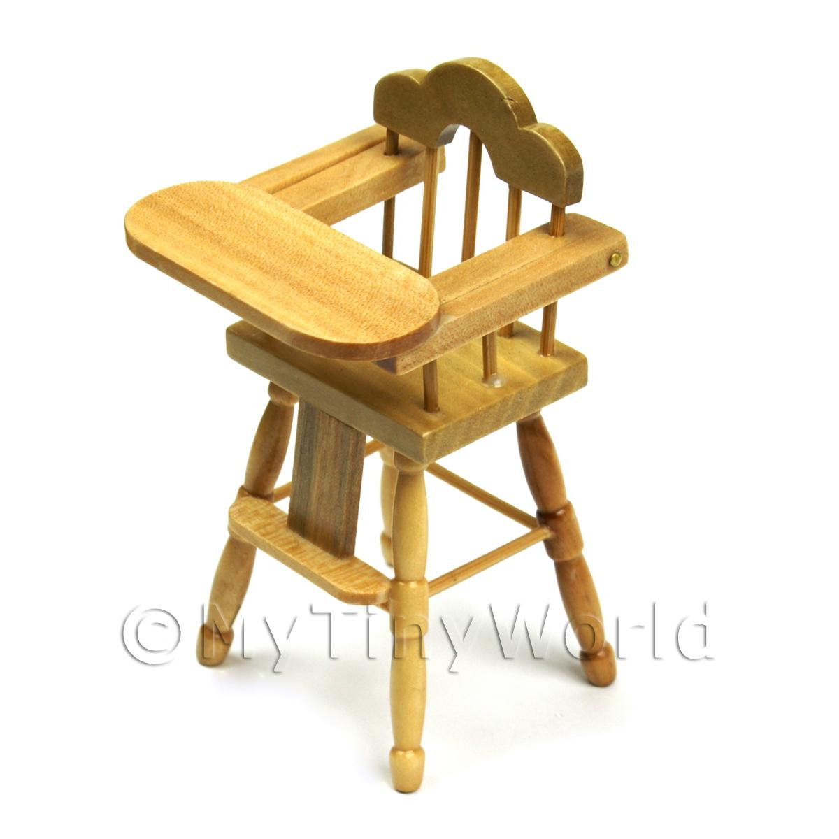 Dolls House Miniature Childrens Pine High Chair  sc 1 st  MyTinyWorld & Dolls House Miniature Furniture (Value) - Dolls House Miniature ...