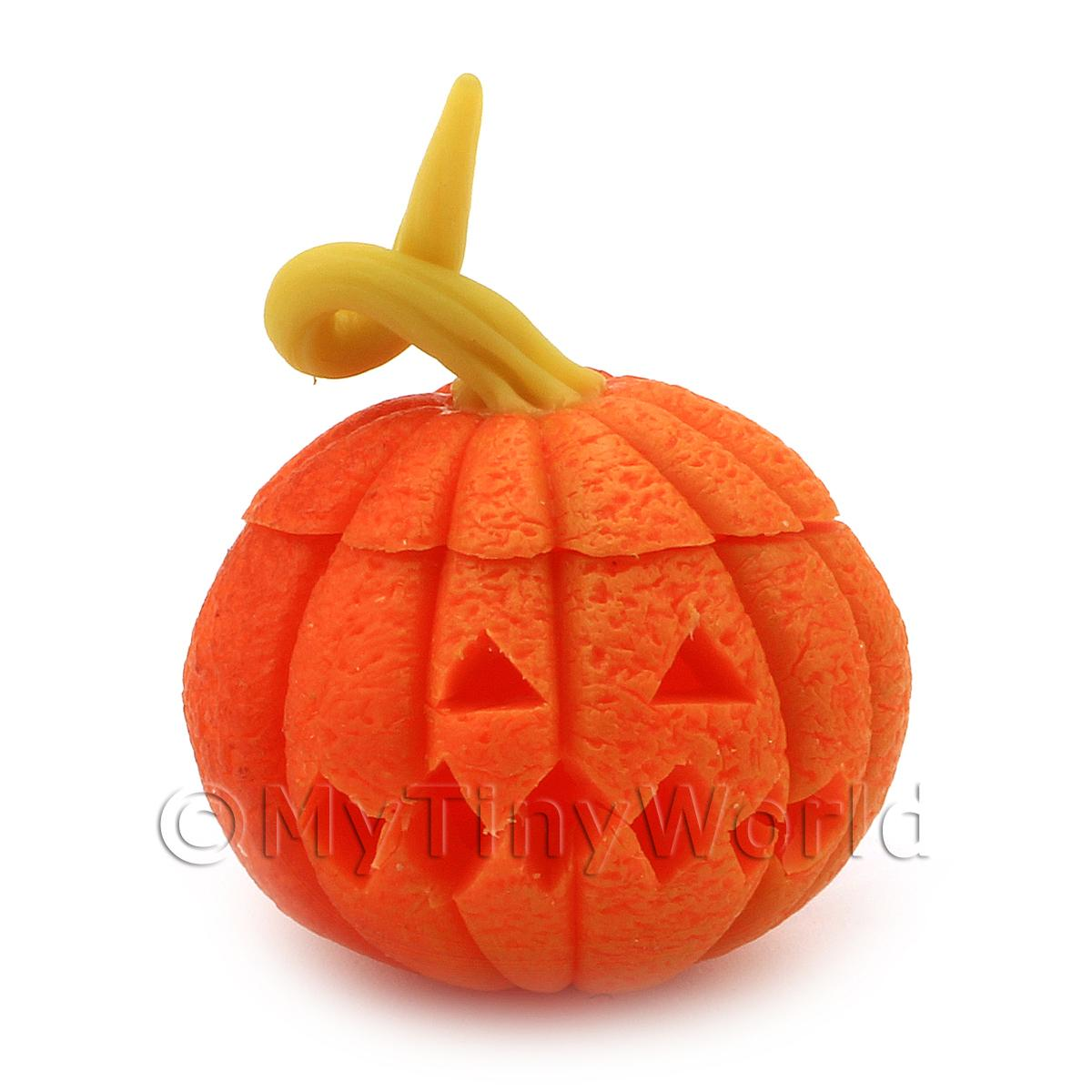 Dolls House Miniature Carved Pumpkin