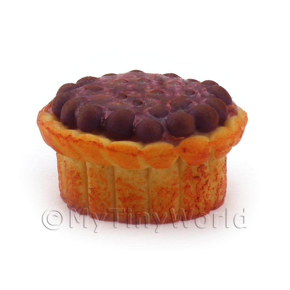 Dolls House Miniature Deep Filled Family Size  Plum Pie