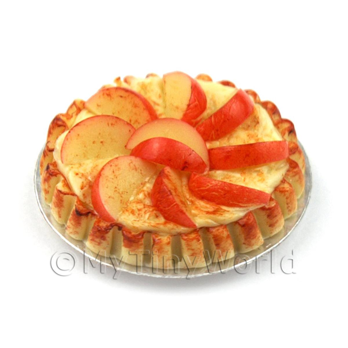 Dolls House Miniature  Bramley Apple Tart