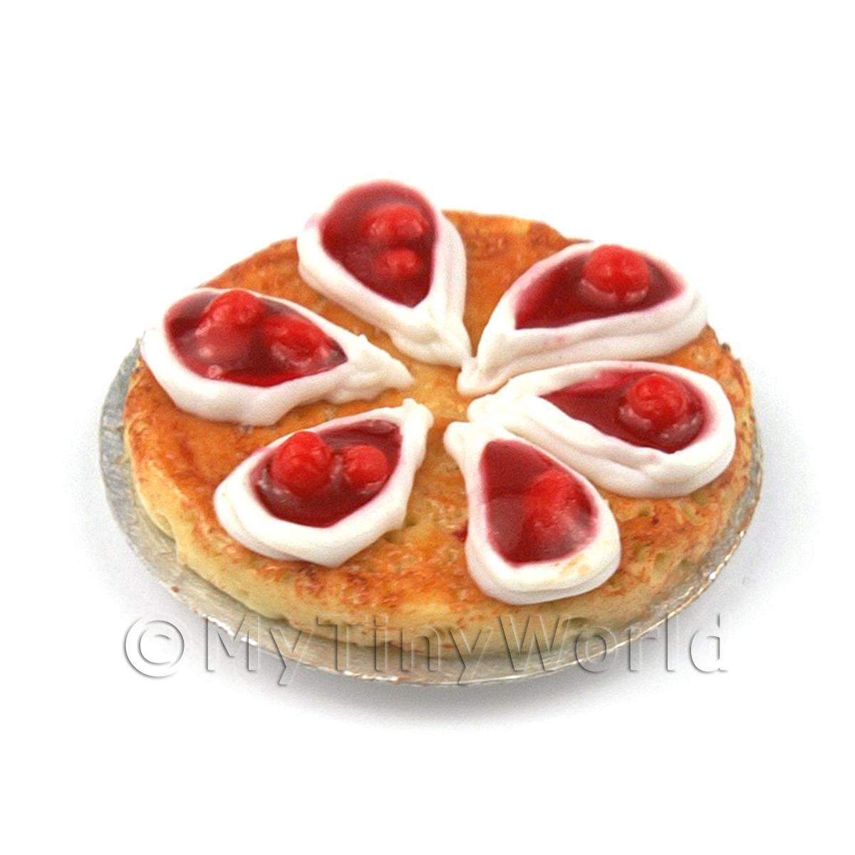 Dolls House Miniature Iced Cherry Topped Pie